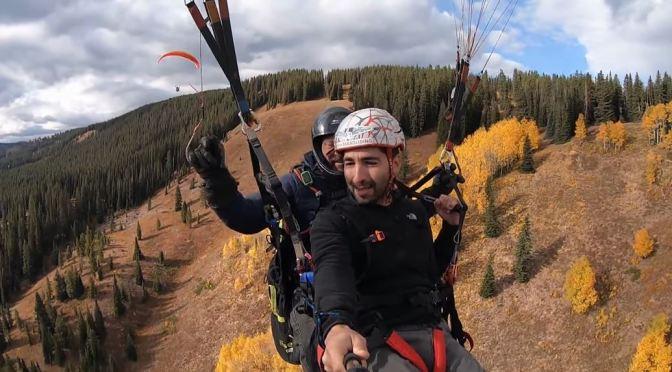 Fall Colors: Paragliding Over Aspen, Colorado