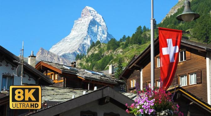 Resort Walks: Zermatt – Valais, Switzerland (8K)