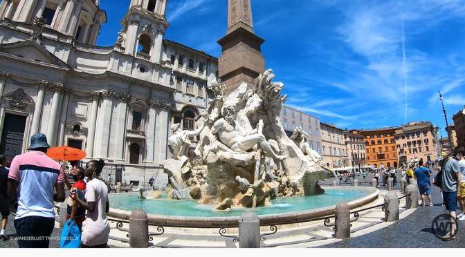 Rome Walks: The Piazza Navona To Pantheon (4K)