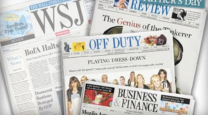 Front Page Views: WSJ Weekend Edition – OCT 23